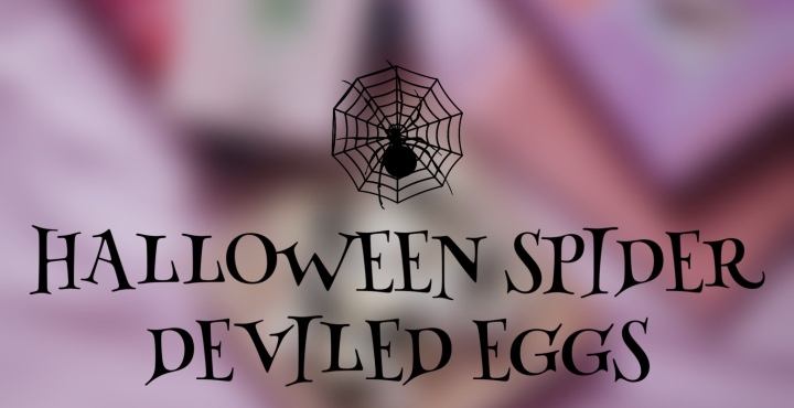Halloween Spider DeviledEggs