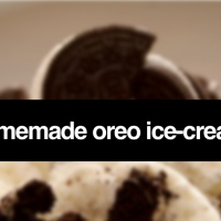 HOMEMADE OREO ICE-CREAM